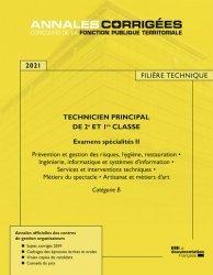 Dernières parutions sur Concours administratifs, Technicien principal de 1re et 2e classe examens spécialité 2. Catégorie B , Edition 2020-2021