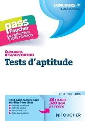 Nouvelle édition Tests d'aptitude  Concours IFSI / AP / Ortho