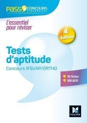 Dernières parutions sur Tests d'aptitude, Tests d'aptitude Concours IFSI/AP/Ortho
