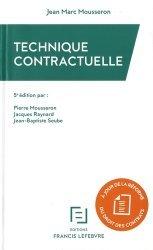 Nouvelle édition Technique contractuelle. 5e édition