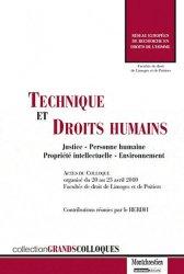 Dernières parutions dans Grands colloques, Technique et droits humains