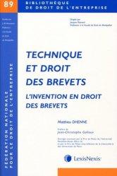 Dernières parutions dans Bibliothèque de droit de l'entreprise, Technique et droit des brevets. L'invention en droit des brevets
