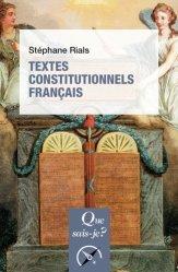Dernières parutions sur Histoire de l'art, Textes constitutionnels français