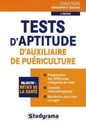 Souvent acheté avec Méthodologie des tests psychotechniques du concours auxiliaire de puériculture, le Tests d'aptitude d'auxiliaire de puériculture