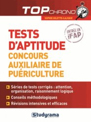 Dernières parutions sur Epreuve écrite, Tests d'aptitude auxiliaire de puériculture