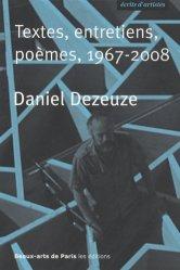 Dernières parutions dans Ecrits d'artistes, Textes, entretiens, poèmes, 1967-2008