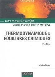 Souvent acheté avec Thermodynamique chimique, le Thermodynamique et équilibres chimiques