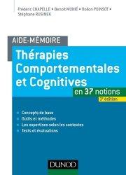 Dernières parutions sur Thérapies comportementales et cognitives, Thérapies comportementales et cognitives