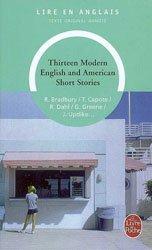 Dernières parutions dans Lire en anglais, Thirteen Modern English and American Short Stories