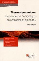 Dernières parutions sur Thermodynamique, Thermodynamique et optimisation énergétique des systèmes et procédés