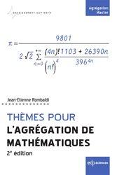Dernières parutions sur Capes - Agreg, Thèmes pour l'agrégation de mathématiques