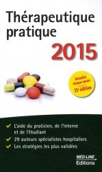 Nouvelle édition Thérapeutique pratique 2015