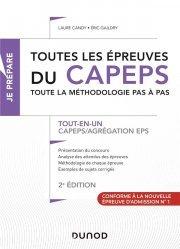 Dernières parutions sur Enseignement du sport, Toutes les épreuves du CAPEPS et de l'agrégation d'EPS - 2e éd.
