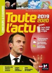 Dernières parutions sur Culture générale, Toute l'actu 2019. Concours & examens, Edition 2019-2020