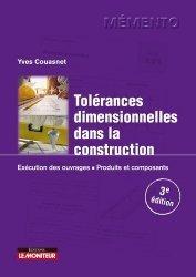Dernières parutions sur Architecture - Urbanisme, Tolérances dimensionnelles dans la construction