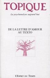 Dernières parutions sur Revues de psychanalyse, Topique N° 147 : De la lettre d'amour au texto