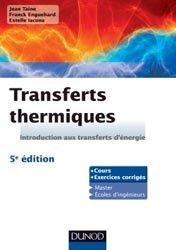Dernières parutions sur Transferts thermiques, Transferts thermiques