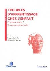 Dernières parutions dans Cahiers de Sainte-Anne, Troubles d'apprentissage chez l'enfant
