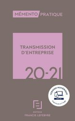Dernières parutions dans Mémento pratique, Transmission d'entreprise. Edition 2020-2021