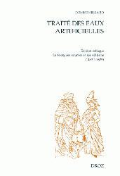 Dernières parutions dans Cahiers d'Humanisme et Renaissance, Traité des eaux artificielles