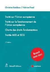 Dernières parutions sur Droit européen : textes, Traité sur l'Union européenne ; Traité sur le fonctionnement de l'Union européenne ; Charte des droits fondamentaux ; Traités MES et SCG