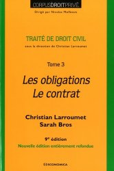Dernières parutions dans Corpus Droit Privé, Traité de droit civil. Tome 3, Les obligations - Le contrat, 9e édition