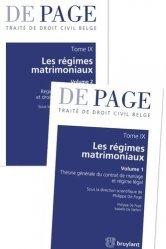 Dernières parutions sur Droit des régimes matrimoniaux, Traité de droit civil belge. Tome 9, Les régimes matrimoniaux, 2 volumes