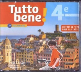 Dernières parutions sur Méthodes de langues (scolaire), Tutto bene! italien cycle 4 / 4e LV2 - Coffret CD/DVD classe - éd. 2017