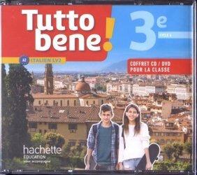 Dernières parutions sur Méthodes de langues (scolaire), Tutto bene! italien cycle 4 / 3e LV2 - Coffret CD/DVD classe - éd. 2017