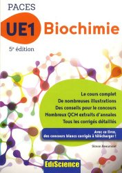 Souvent acheté avec Chimie organique - UE1 PACES, le UE1 Biochimie