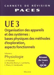 Souvent acheté avec UE1 Vol 2 - Biochimie, le UE3 Vol 2 - Physiologie