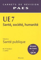 Souvent acheté avec UE7 santé, société, humanité optimisé pour Paris 6, le UE7 Vol 2 - Santé publique Santé, Société, Humanité,