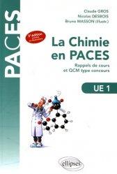 Souvent acheté avec Histologie UE2, le UE1 - La chimie en PACES - Rappels de cours et QCM type concours chimie organique, chimie générale, biochimie,