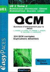 Souvent acheté avec UE1 - La chimie en PACES - Rappels de cours et QCM type concours, le UE 1 Tome 2 QCM pour la PACES