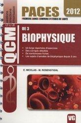 Souvent acheté avec Anatomie UE5 ( Lyon EST), le UE3 Biophysique