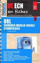 Souvent acheté avec UE ECN en fiches Ophtalmologie, le UE ECN en fiches ORL Chirurgie maxillo-faciale Stomatologie