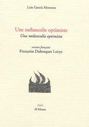 Dernières parutions sur Livres bilingues, Une mélancolie optimiste