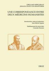 Dernières parutions dans Cahiers d'Humanisme et Renaissance, Une correspondance entre deux médecins humanistes