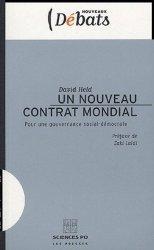 Dernières parutions dans Nouveaux débats, Un nouveau contrat mondial. Pour une gouvernance social-démocrate