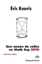 Dernières parutions dans Im-et-Ker, Une année de colles en math sup MPSI