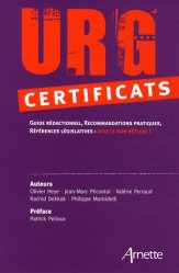 Dernières parutions dans Urg', Urg' certificats