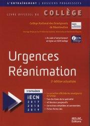 Souvent acheté avec Annales iECN 2016 complètes, le Urgences Réanimation