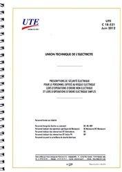 Dernières parutions sur Recueils de normes de l'industrie, UTE C 18-531