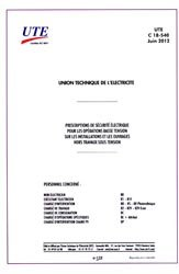 Dernières parutions sur Recueils de normes de l'industrie, UTE C 18-540