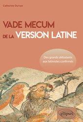 Dernières parutions sur Auto apprentissage (parascolaire), Vade mecum de la version latine