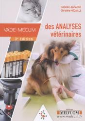 Dernières parutions sur Biologie  - Toxicologie - Virologie - Parasitologie, Vade-mecum des analyses vétérinaires