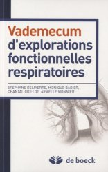 Dernières parutions sur Pneumologie, Vademecum d'explorations fonctionnelles respiratoires