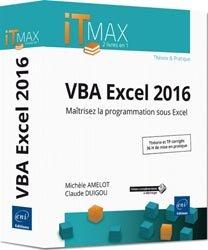 Dernières parutions dans ITmax, VBA Excel 2016