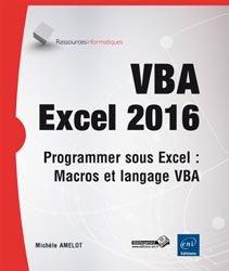 Dernières parutions sur Systèmes de gestion, VBA Excel 2016 Programmer sous Excel