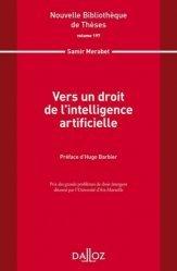 Dernières parutions dans Nouvelle Bibliothèque Thèses, Vers un droit de l'intelligence artificielle
